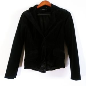 Vero Moda Velvet Black Blazer Small